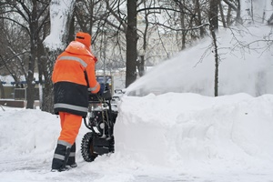 Commercial snow removal services from Brennan Landscaping