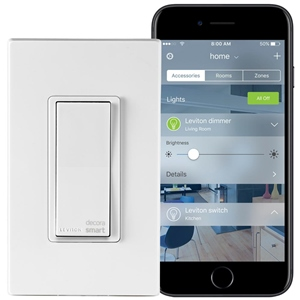 Smart lighting system app by Leviton