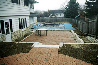 Wauwatosa brick patio installation by Brennan Landscaping