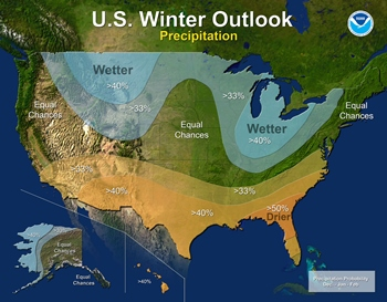 Winter 2017-2018 forecast map